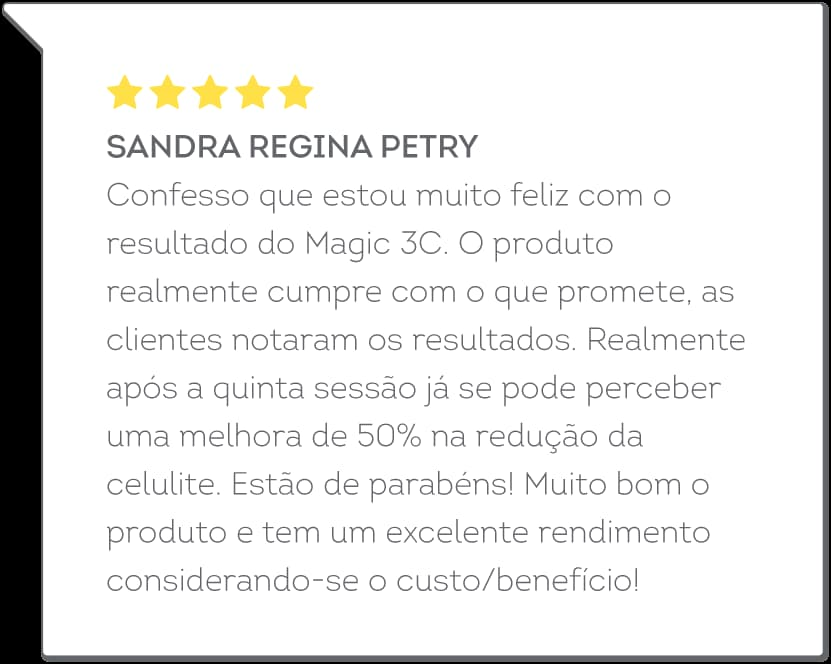 depoimento do Magic 3C - Sandra